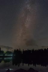Milchstraße über dem Oderteich. (jörg opfermann) Tags: nachtaufnahme langzeitbelichtung long exposure teich pond milchstrase milkyway zeiss batis 2818mm 7m2 ilce sony