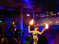 Club de Paris, London (TAGG IMAGING, Look what i've got) Tags: cafedeparis fire fireeater london club erotic gay drag spark light wets end grinder seven sins sevensins swardswallower dance
