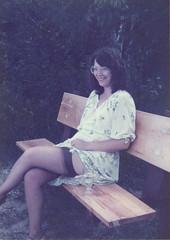 Letting them look (GentleLady1965) Tags: stockings striptease display gentlelady1965 megan voyeur garterbelt lingerie flashing exhibitionist
