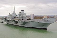 HMS QUEEN ELIZABETH (Ugborough Exile) Tags: qnlz cvf r08 portsmouth hampshire hants pentax england uk 2017 royalnavy