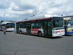 65th trolleybus anniversary at Pardubice (johnzebedee) Tags: trolleybus transport publictransport event depot pardubice czechrepublic johnzebedee skoda skoda24tr