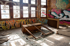 A trophy (virgilvanburen) Tags: urban exploration urbex rurex chicago illinois abandoned abandoment bando decay grime photography photo pics pic graffiti graff coh cohcrew vandal vandalism vandals time dilapidated