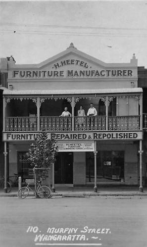 H. Heetel Furniture Manufacturer, Murphy Street, Wangaratta, Victoria - circa 1930s