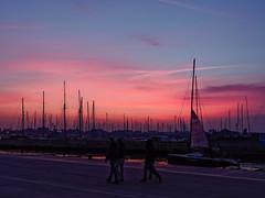 _B110053_DxO-2 (Ryosei Onishi) Tags: rimini pier sunset boat seagulls longiano cesena bicycle rust warm fall autumn colorfull