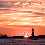 The Statue of Liberty at sunset - New York - Travel photography thumbnail