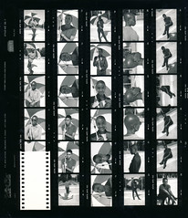 Carol Tart and Gina Bald Black & Beautiful BBB On Location Photo Shoot Philadelphia Portrait B&W Agfa APX 100 ISO 35mm Contact Sheet Proof Print April 1995 IMG_0039 (photographer695) Tags: carol tart gina bald black beautiful bbb on location photo shoot philadelphia portrait bw agfa apx 100 iso 35mm contact sheet proof print april 1995