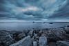 Steel Blue (mwisniewski91) Tags: blue sky steel clouds cloudy night evening seaside bay sea stones rocks beach poland gdansk