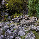 Rockfall, The Canyon, South Wales