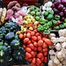 Fresh veggies at an open market in Valladolid, in Mexico