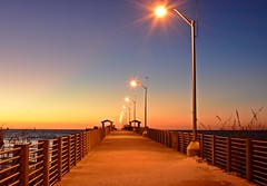 Sunset on the pier (dina j) Tags: florida beach floridabeach fortdesoto fishingpier pier pinellascounty sunset