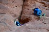 The Kids Climbing In Double Arch (Joe Shlabotnik) Tags: november2017 nationalpark utah violet 2017 arches arch archesnationalpark everett doublearch moab afsdxvrzoomnikkor18105mmf3556ged