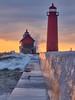 Lighthouse at sunset (ericstadler83) Tags: lake sky sunset splash soaked wet waves water crashing crash wave lighthouse haven grand michigan explored explore