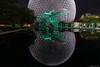 Biosphère - Reflet de nuit (StefDenis) Tags: biosphere constructionbarrageécluseedificeponttunnel grandparcsetespacepublique nuit parcjeandrapeau parcdelilestehélene reflet montréal québec canada ca