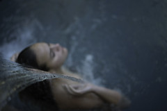L1250221 (John F. Roberts) Tags: leicasl 50mmsummiluxasph woman water shower spa bokeh blur