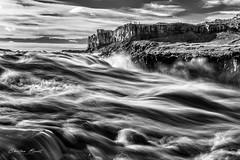 Iceland 2017 - Dettifoss (cesbai1) Tags: dettifoss is iceland islande islanda islandia black white bw noir et blanc nb waterfall chute deau cascade long exposure pose longue lente sony a7rm2