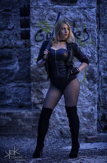 Cosplay of Black Canary by Yvaine Dazzling, shot by SpirosK photography