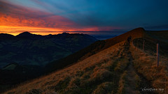 Sunset at Pointe de l'Erse (Switzerland) (christian.rey) Tags: monthey valais suisse ch pointedelerse erse sunset coucher soleil dentsdumidi landscape paysage swiss mountains alpes alps sony alpha a7r2 a7rii 1635