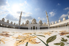 Abu Dhabi, United Arab Emirates - Sheikh Zayed Grand Mosque (GlobeTrotter 2000) Tags: abu abudhabi dhabi dubai emirates grand mosque sheikh uae unitedarabemirates zayed arab tourism travel visit fisheye flowers