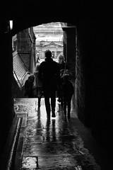 Milne's Court (pepsamu) Tags: milnes court edinburgh edimburgo escocia scotland 2017 close callejón street narrow bn monochrome alley alleyway rainy lluvia mojado wet building people family stone architecture arquitectura old oldtown town royal mile royalmile venel pedestrian passageway edificio wynd canonistas canon 60d streetphotography urban travel arch arco pasaje bóveda vault