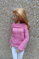 Barbie doll clothes. Hand-knitted radiant orchid sweater & white leggings to the calf (uliakiev) Tags: barbie barbiedoll barbiedollclothes barbieclothes barbiesweater barbiecollector barbiecollection barbiefan barbiefashion barbieclothing barbiedolls barbieshop barbiestyle barbiestream barbiecrochet barbieknit dollclothes dollsweater dollknitting