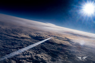 41,000 feet above Earth, 4000 feet above a KLM Airbus A330