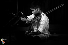 The Light of Music (Shikher Singh) Tags: violin music musician instrument teen child kid mic microphone performance stage student