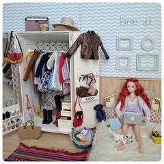 Ninjin ❤ (Karine'S HCF (Handmade Clothing & Furniture)) Tags: momoko diorama pelirroja cama armario redhaired