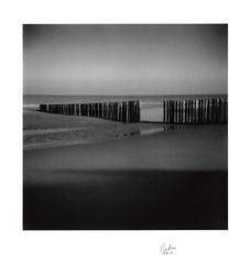 Haamstede Strand at Low Tide by Wolfgang Moersch - Holga 120N, Plus-x @320ASA in eco film developer, Platinum toned Kallitype on Hahnemühle Platinum Rag