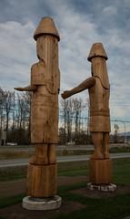 DSC_7793 (Copy) (pandjt) Tags: chilliwack bc britishcolumbia stólō stolo yakweakwioose firstnation yakweakwioosefirstnation terryhorne chiefterryhorne welcomefigures welcome sculpture carving publicart canada150