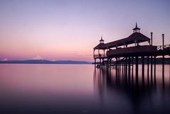 Sunset over Volcano (Cruz-Monsalves) Tags: chile lago frutillar volcan muelle contraluz silueta volcano dock mountain lake montaña landscape sunset atardecer agua silhouette