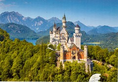 Postcrossing DE-6656704 (booboo_babies) Tags: castle schlossneuschwanstein germany bavaria disneyland sleepingbeautycastle postcrossing
