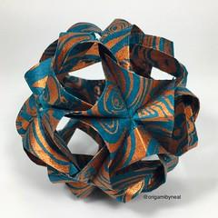 Undina Kusudama (designed by Maria Sinaskaya) (nealgodse) Tags: handcrafted handmade kusudama sculpture paperart paper modularorigami origami