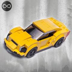 75870 alternate MOC model (KEEP_ON_BRICKING) Tags: lego speed champions alternate moc model sportscar american muscle car city scale minifigure size yellow 75870 chevrolet corvette remake rebrick keeponbricking