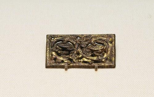 鎏金铜框牌饰