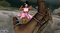 BY TD - Sophia Fitmesh Dress - Pink & {Q} Alena - Mesh Hair (elektradexler1) Tags: td queenz maitreya catwahead