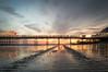 final colours (Emma Varley) Tags: worthing beach sand reflections sunset orange lights tracks seaside westsussex pier