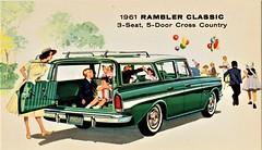 1961 Rambler Classic Custom Cross Country Station Wagon (aldenjewell) Tags: 1961 rambler classic custom 3seat 5door cross country station wagon postcard