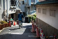 Ride my bicycle. (Akira.Tagawa_JPN)) Tags: akira tagawa アキラ タガワ 自転車 bike bicycle slope 坂道 下町 downtown tokyo japan nokton voigtlander