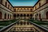 dentro il castello (66Colpi) Tags: castellosforzesco milano prospettiva riflesso fontana piscina archi porticato finestre facciate