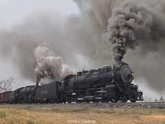 ATSF Mikados on Raton in O Scale (Erik C. Lindgren) Tags: modeltrain steamtrains steamlocomotive steamengine train railway railroad 148scale 14scale oscale miniature modelrailroad santaferailway santaferailroad atchisontopekaandsantafe santafe