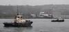 CMS Warrior and Bruiser Ready for Action (Russardo) Tags: portglasgow scotland unitedkingdom mv glen sannox launch ferry calmac port glasgow clyde caledonian macbrayne fergusons shipyard