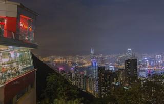 HongKong city lights - view from Victoria peak