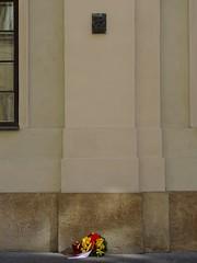 Warsaw Uprising barricade memorial on Świętojańska Street (stillunusual) Tags: staremiasto oldtown warsaw warszawa wwa poland polska ulicaświętojańska ulświętojańska świętojańskastreet warsawuprising powstaniewarszawskie warsawrising 1944 armiakrajowa homearmy polishresistance germany deutschland history germanhistory nazi nazigermany thirdreich urban urbanscenery warmemorial memorial plaque memorialplaque barricade culture polishculture warmonument monument commemoration remembrance historicalplaces historyofpoland polishhistory historiapolski travel travelphotography travelphoto travelphotograph 2017
