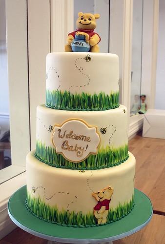 Pooh Hunny grassy cake