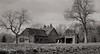Fin novembre, après les labours... (Argentique) / In autumn, after plowing (Film) (Pentax_clic) Tags: kodak vigilant rollei retro 400s argentique film d76 nb bw panorama six16 120 grange barn rural robert warren vaudreuil quebec novembre 2017