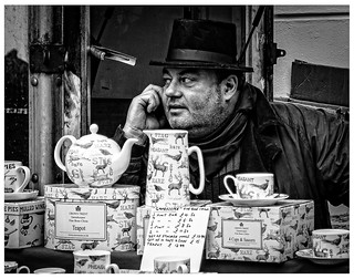 Victorian trader on mobile phone