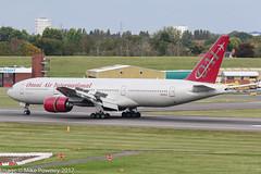 N819AX - 2004 build Boeing B777-2U8ER, arriving at Birmingham on a Monarch Airlines repatriation flight (egcc) Tags: 33681 479 5ykqu b772 b777 b777200 b7772u8er bhx birmingham boeing egbb elmdon lightroom n819ax oae oai oy omni omniairinternational triple triple7
