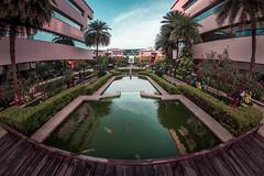 Fountain 1 (malhotraXtreme) Tags: infosys bangalore campus fisheye samyang 8mm lens india karnataka color tone sunset light sony alpha a58 slt