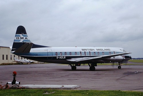 G-AZLS V Viscount British Midland CVT 30-08-1980