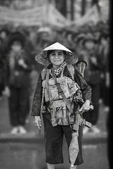 Women Soldier (dkwimages) Tags: women crowd soldier weapon marching blackwhite